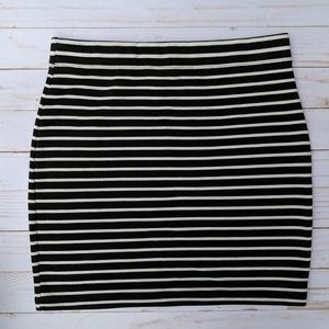 Forever 21 striped bodycon skirt, size L